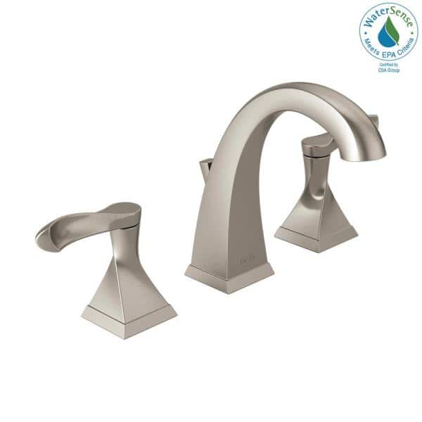 Delta Everly 8 In Widespread 2 Handle Bathroom Faucet In Spotshield Brushed Nickel 35741 Sp Dst The Home Depot