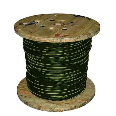 1000 ft. 2-2-2-4 Black Stranded AL Quad Dyke URD Cable