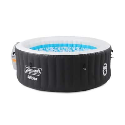 Miami Spa 4 Person Portable Inflatable Outdoor Air Jet Hot Tub, Black