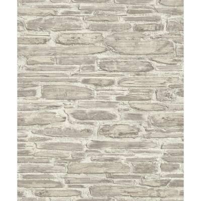 Cassandre Neutral Stone Neutral Wallpaper Sample
