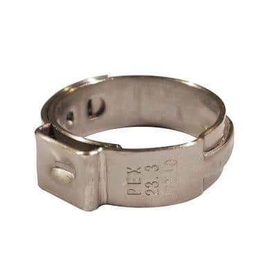 3/4 in. Stainless Steel PEX Barb Pinch Clamp (25-Pack)