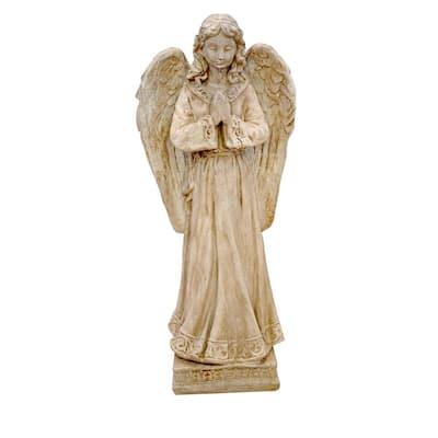 Concrete Angel Garden Pedestal