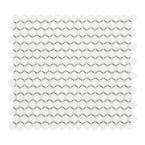 Cascades White 11.5 in. x 12.5 in. Penny Round Matte Porcelain Mesh-Mounted Mosaic Tile (1.00 sq. ft./Each)
