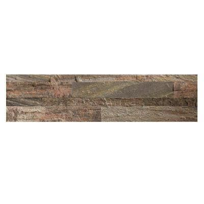 23.6 in. x 5.9 in. Weathered Quartz Peel and Stick Stone Decorative Tile Backsplash