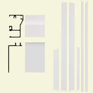 Remodel 4-9/16 in. x 1-1/4 in. x 84 in. White Aluminum Entry Door Frame Clad Kit with Brickmould