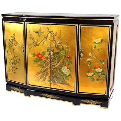 Gold Leaf Slant Front Cabinet