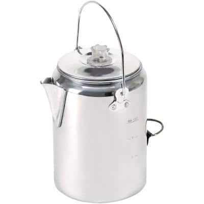 9-Cup Silver Aluminum Percolator