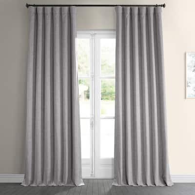 Clay Solid Rod Pocket Room Darkening Curtain - 50 in. W x 84 in. L