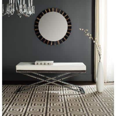 Acra White and Silver Bench