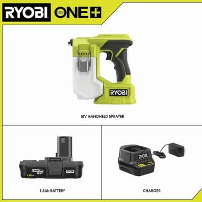 ONE+ 18V Cordless Handheld Sprayer Kit with (1) 1.5 Ah Battery and Charger