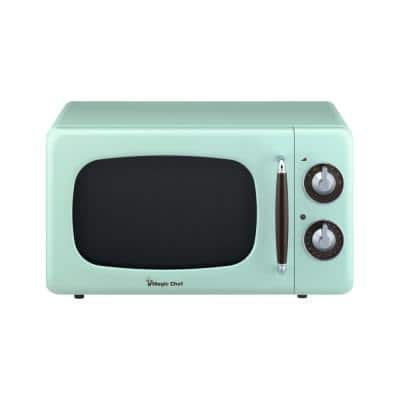 Retro 0.7 cu. ft. Countertop Microwave in Mint Green