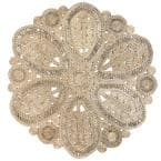 Bree Floral Braided Natural 8 ft. x 8 ft. Jute Indoor Round Rug