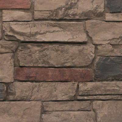 Ledgestone 11 in. x 11 in. Mocha Faux Stone Siding Sample