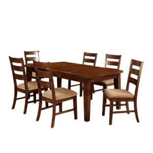 Priscilla I Antique Oak 7-Piece Table Set