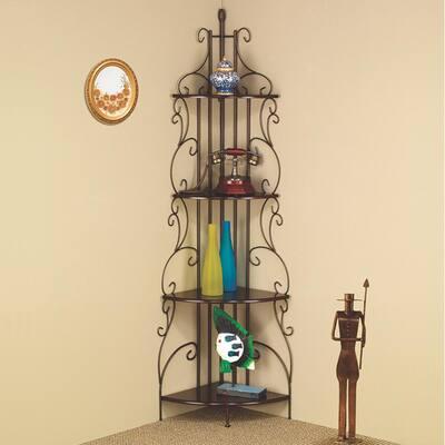 Laherty Copper Corner Bookcase