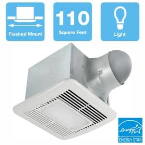 Signature 80/110 CFM Adjustable Speed Ceiling Bathroom Exhaust Fan with Dimmable LED Light, ENERGY STAR