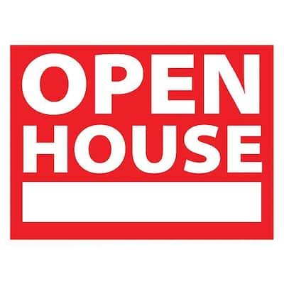 10 in. x 14 in. Vinyl Open House Sign