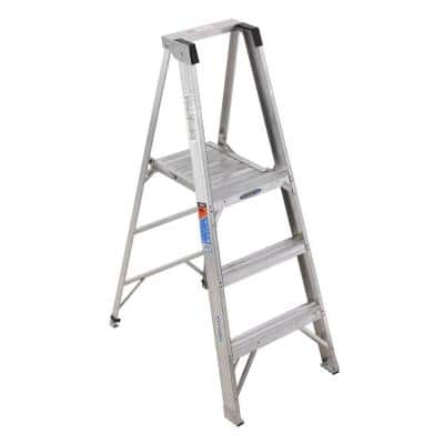 9 ft. Reach Aluminum Platform Step Ladder with 300 lb. Load Capacity Type IA Duty Rating