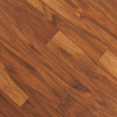 Distressed Bronze Acacia 3/8 in. Tx5 in. W x Varying L Click Lock Exotic Engineered Hardwood Flooring(26.25 sq.ft./case)