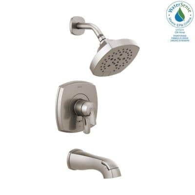 Stryke 1-Handle Wall Mount 5-Spray Tub and Shower Faucet Trim Kit in Stainless (Valve Not Included)
