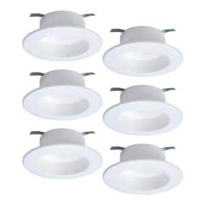 Halo Rl 4 In White Tunable Bluetooth Smart Integrated Led Recessed Ceiling Light Trim Cct 2700k 5000k 6 Pack Rl4069ble40awhr 6pk The Home Depot