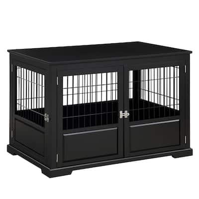 Black Fairview Triple Door Dog Crate - Large