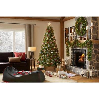 7.5 ft Westwood White Fir LED Pre-Lit Artificial Christmas Tree with 650 Warm White Micro Fairy Lights