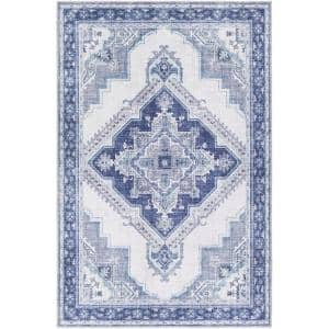 Canace Navy 7 ft. 6 in. x 9 ft. 6 in. Area Rug