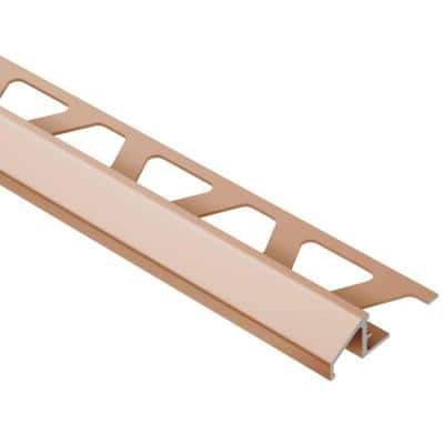 Reno-U Satin Copper Anodized Aluminum 3/8 in. x 8 ft. 2-1/2 in. Metal Reducer Tile Edging Trim