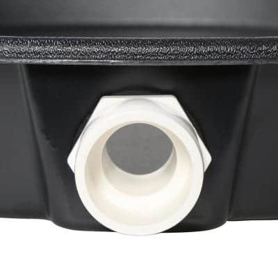 28 in. Plastic Water Heater Pans with PVC Drain Connection (Case of 5)