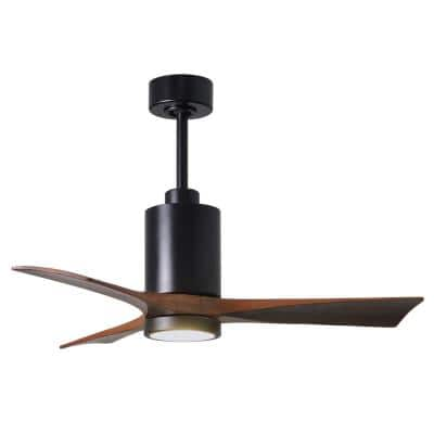 Patricia 42 in. Integrated LED Indoor/Outdoor Matte Black Ceiling Fan with Light with Remote Control and Wall Control