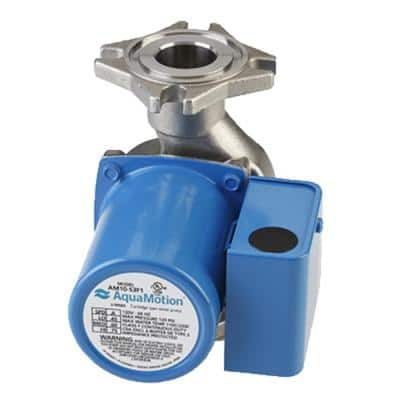 4-Bolt Flange 3-Speed Cast Iron Heating Circulator with Built-In Check Valve