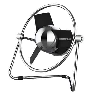 SBM1 USB Fan with 4.4 in. Soft Blades, 2 Speeds, Touch Control, Metal Frame, Wall Adapter, 6 ft. USB Cable