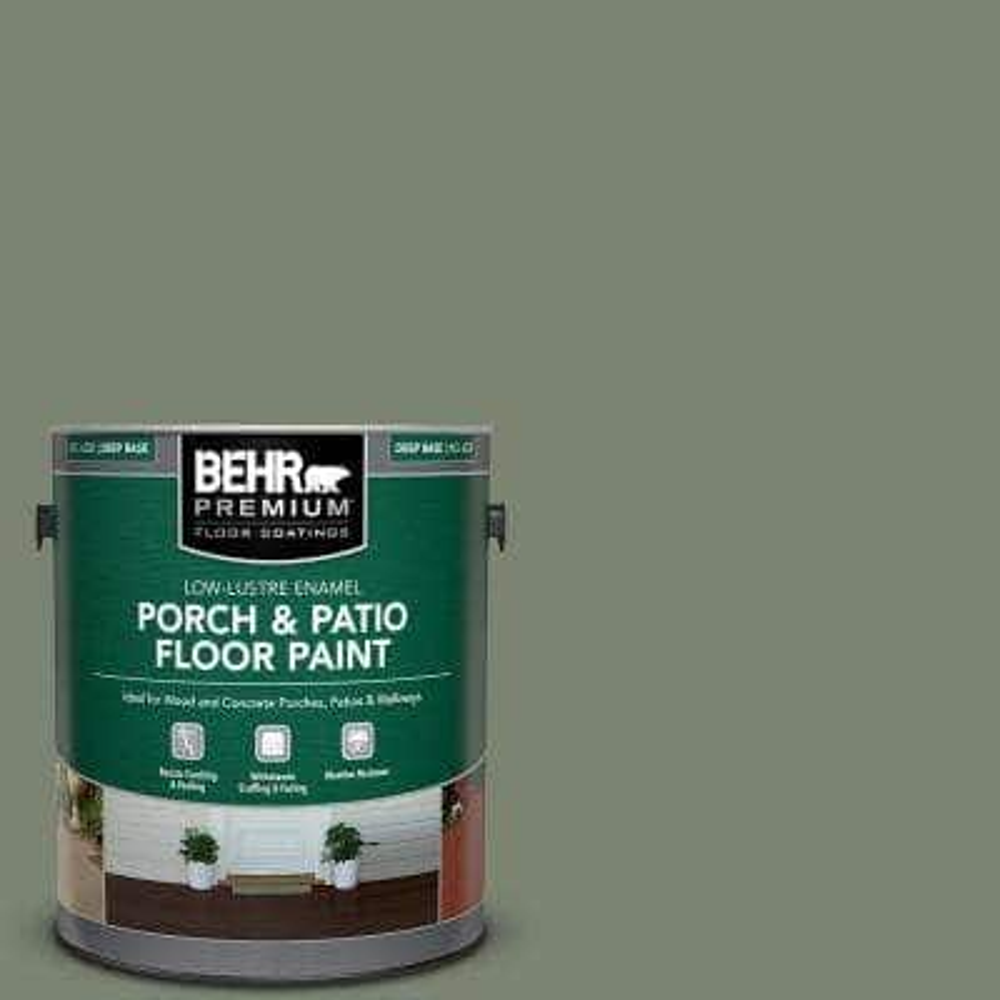 1 gal. #ICC-77 Sage Green Low-Lustre Enamel Interior/Exterior Porch and Patio Floor Paint