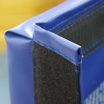 Folding Blue 4 ft. x 8 ft. x 2 in. 18 oz. Vinyl and Foam Gymnastics Mat