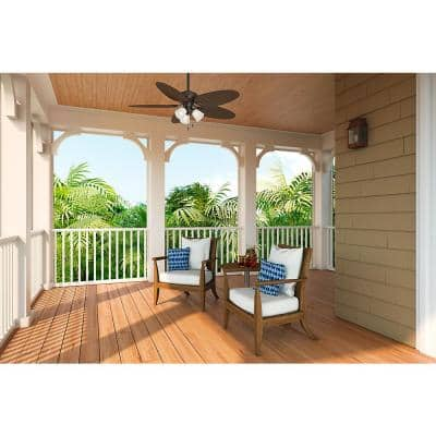 Lago Vista 54 in. LED Indoor/Outdoor Noble Bronze Ceiling Fan with Light Kit