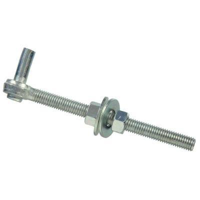 3/4 x 10 in. Gate Bolt Hook in Zinc-Plated (5-Pack)