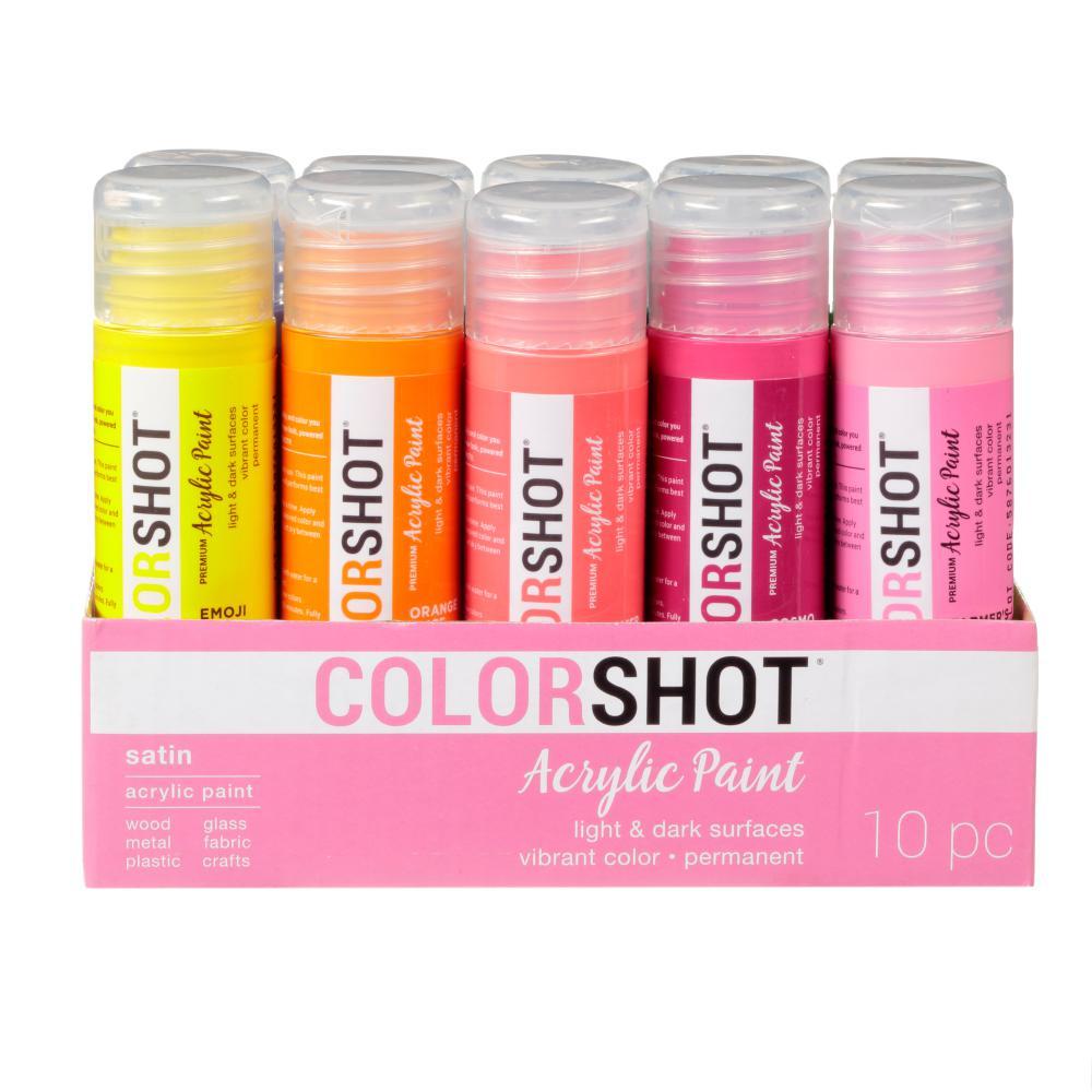 2 oz. 10-Color Bright Craft Paint Set