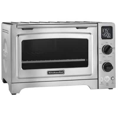1800 W 4-Slice Stainless Steel Convection Toaster Oven