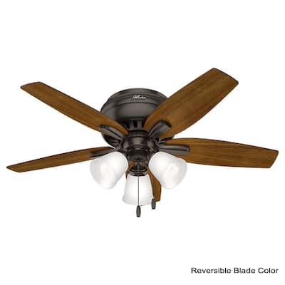 Hunter 5 Blades Flush Mount Ceiling Fans Lighting The Home Depot