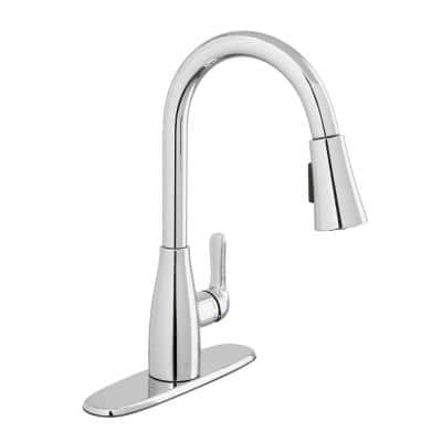 McKenna Single-Handle Pull-Down Sprayer Kitchen Faucet in Chrome with TurboSpray and FastMount
