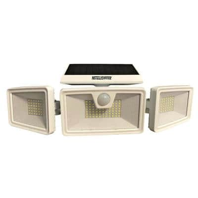 3 Mode, Motion Activated and Area Solar Powered White LED Spotlight