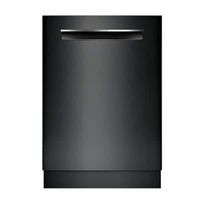 500 Series 24 in. Black Top Control Tall Tub Pocket Handle Dishwasher with Stainless Steel Tub, AutoAir, 44dBA