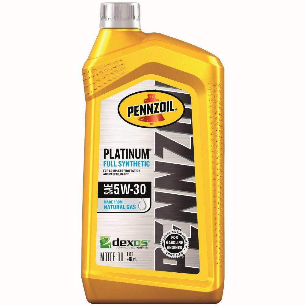 Pennzoil Platinum SAE 5W-30 Full Synthetic Motor Oil - 1 Qt.