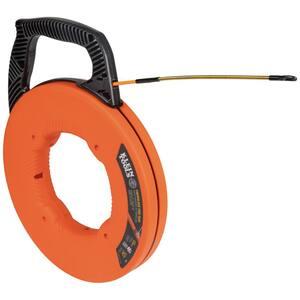 Fiberglass 50 ft. Fish Tape with Spiral Steel Leader