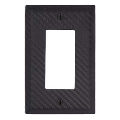 Branston 1 Gang Rocker Steel Wall Plate - Black