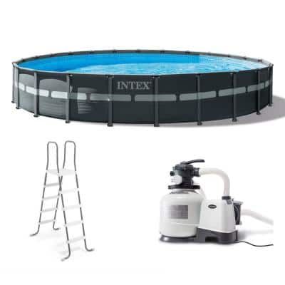 24 ft. x 52 in. Ultra XTR Frame Round Swimming Pool Set with Sand Filter Pump