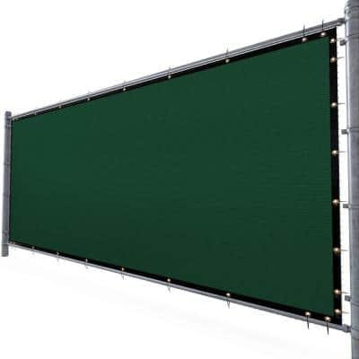 6 ft. H x 12 ft. W Green Fence Outdoor Privacy Screen with Black Edge Bindings and Grommets