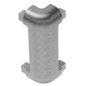 Rondec-CT Brushed Chrome Anodized Aluminum 3/8 in. x 1-31/32 in. Metal 90 Degree Outside Corner