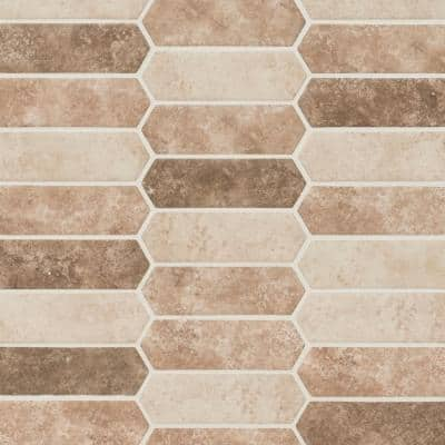 Shoreline Picket 9.5 in. x 14 in. x 6 mm Glass Mesh-Mounted Mosaic Tile (13.95 sq. ft./case)
